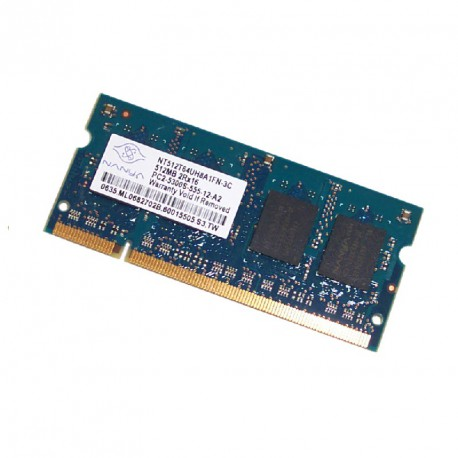 512Mo RAM PC Portable SODIMM NANYA NT512T64UH8A1FN-3C DDR2 PC2-5300S 667MHz CL5