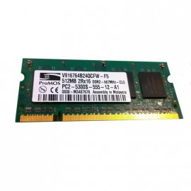 512Mo RAM PC Portable SODIMM ProMOS V916764B24QCFW-F5 DDR2 PC2-5300S 667MHz CL5
