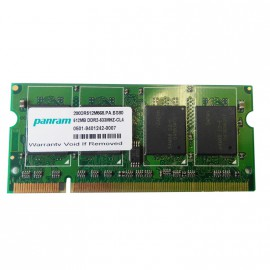 512Mo RAM PC Portable SODIMM PANRAM 200DR512M568 DDR2 PC2-4200S 533MHz CL4