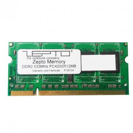 512Mo RAM PC Portable SODIMM ZEPTO M2OAD2G3H3410F1B52 DDR2 PC2-4200S 533MHz