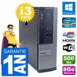 PC Dell OptiPlex 3010 SFF i3-3220 RAM 8Go Disque Dur 500Go HDMI Windows 10 Wifi