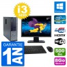 "PC Dell 3010 SFF Ecran 27"" i3-3220 RAM 8Go Disque Dur 500Go HDMI Windows 10 Wifi"