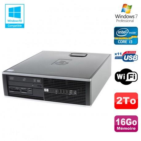 PC HP Compaq 6200 Pro SFF Intel Core i3 3.3GHz 16Go DDR3 2To Graveur WIFI W7 Pro