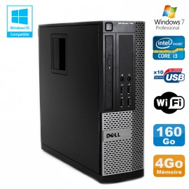 PC DELL Optiplex 790 SFF Intel core i3-2120 3.3Ghz 4Go DDR3 160Go WIFI Win 7 Pro