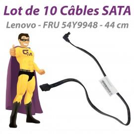 Lot 2 Câble SATA Lenovo FRU 54Y9948 ThinkStation P300 44cm Pivot Noirs