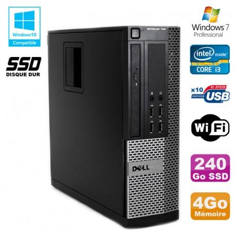 PC DELL Optiplex 790 SFF Intel core i3 3.3Ghz 4Go DDR3 240Go SSD WIFI Win 7 Pro