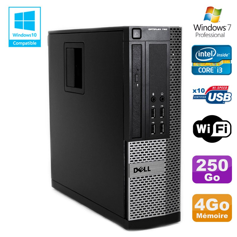 Beste PC DELL Optiplex 790 SFF Intel core i3-2120 3.3Ghz 4Go DDR3 250Go UP-32