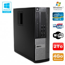 PC DELL Optiplex 790 SFF Intel core i3-2120 3.3Ghz 4Go DDR3 2To WIFI Win 7 Pro