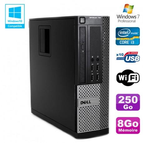 PC DELL Optiplex 790 SFF Intel core i3-2120 3.3Ghz 8Go DDR3 250Go WIFI Win 7 Pro
