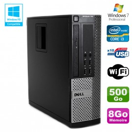 PC DELL Optiplex 790 SFF Intel core i3-2120 3.3Ghz 8Go DDR3 500Go WIFI Win 7 Pro