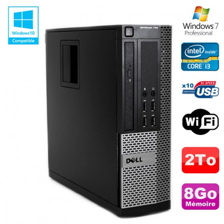 PC DELL Optiplex 790 SFF Intel core i3-2120 3.3Ghz 8Go DDR3 2To WIFI Win 7 Pro