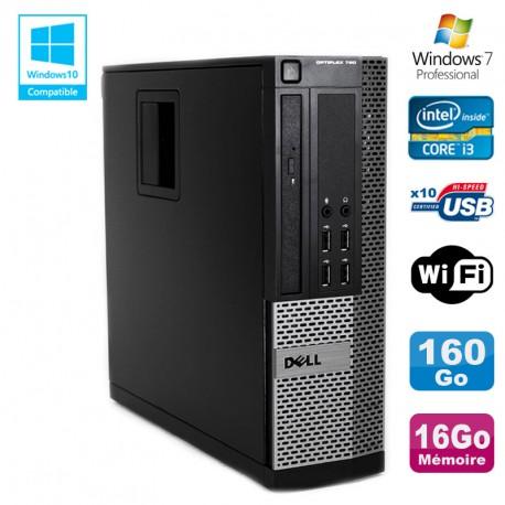 PC DELL Optiplex 790 SFF Intel core i3-2120 3.3Ghz 16Go DDR3 160Go WIFI W7 Pro