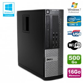 PC DELL Optiplex 790 SFF Intel core i3-2120 3.3Ghz 16Go DDR3 500Go WIFI W7 Pro