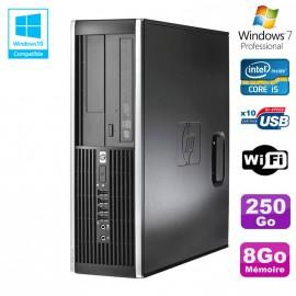 PC HP Elite 8300 SFF Core I5 3470 3.2GHz 8Go Disque 250Go Graveur USB3 Wifi W7