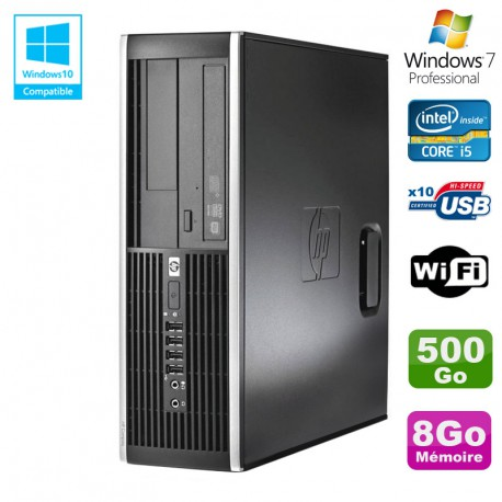 PC HP Elite 8300 SFF Core I5 3470 3.2GHz 8Go Disque 500Go Graveur USB3 Wifi W7