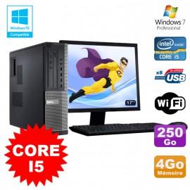 "Lot PC Dell 3010 DT Core I5 3.1Ghz 4Go 250Go Graveur WIFI Win 7 + Ecran 17"""