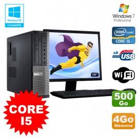 "Lot PC Dell 3010 DT Core I5 3.1Ghz 4Go 500Go Graveur WIFI Win 7 + Ecran 19"""