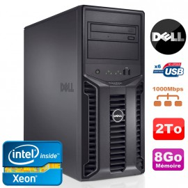 Serveur DELL PowerEdge T110II Xeon Quad Core E3-1220 3.1Ghz NR 8Go 2To DVD