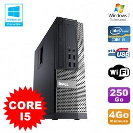 PC Dell Optiplex 7010 SFF Core I5 2400 3.1GHz 4Go Disque 250Go Wifi W7