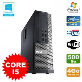PC Dell Optiplex 7010 SFF Core I5 2400 3.1GHz 4Go Disque 500Go Wifi W7