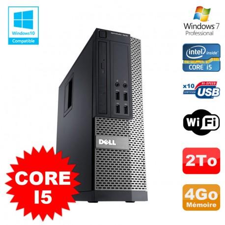 PC Dell Optiplex 7010 SFF Core I5 2400 3.1GHz 4Go Disque 2To Wifi W7