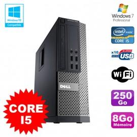 PC Dell Optiplex 7010 SFF Core I5 2400 3.1GHz 8Go Disque 250Go Wifi W7