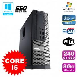 PC Dell Optiplex 7010 SFF Core I5 2400 3.1GHz 8Go Disque 240Go SSD Wifi W7