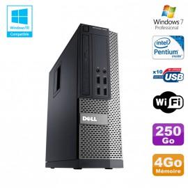 PC Dell Optiplex 7010 SFF Intel G870 3.1GHz 4Go Disque 250Go Wifi W7
