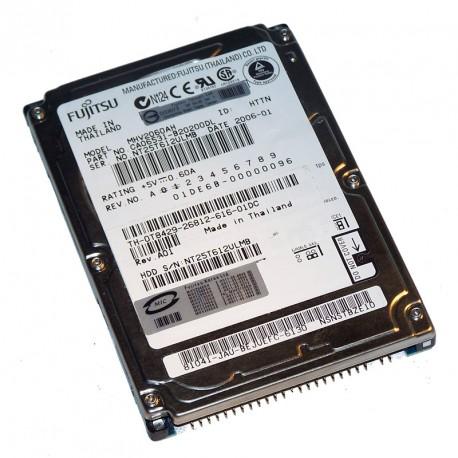 "Disque Dur 100Go IDE ATA 2.5"" Fujitsu MHV2100AH 5400RPM 8Mo Pc Portable CA06531"