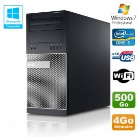 PC Tour Dell Optiplex 790 Intel Core I5 3.1Ghz 4Go Disque 500 Go DVD WIFI Win 7
