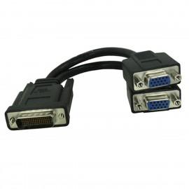 Adaptateur Doubleur DMS-60 LFH-60 vers Dual 2x VGA 715941-00 30cm Noir