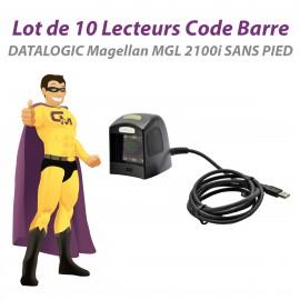 Lot x10 Lecteurs Code Barre USB DATALOGIC Magellan MGL 2100i 1100i TPV SANS PIED