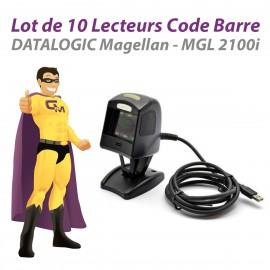 Lot x10 Lecteurs Code Barre USB DATALOGIC Magellan MGL 2100i MGL 1100i TPV