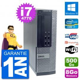 PC Dell OptiPlex 7020 SFF Intel i7-4770 RAM 8Go Disque Dur 500Go Windows 10 Wifi