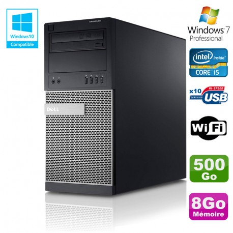PC Tour Dell Optiplex 7010 Core I5-3470 3.2Ghz 8Go Disque 500Go DVD WIFI Win 7