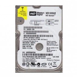 "Disque Dur 120Go IDE ATA 2.5"" Western Digital WD1200UE 5400RPM 2Mo Pc Portable"