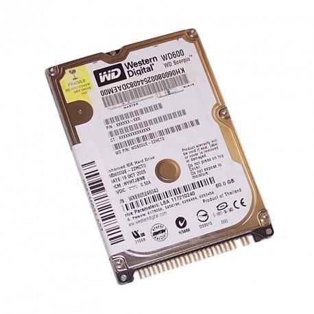 "Disque Dur 60Go IDE ATA 2.5"" Western Digital WD600UE 5400RPM 2Mo Pc Portable"