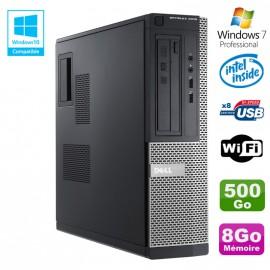 PC DELL Optiplex 3010 DT Intel G2020 2.9Ghz DVD 8Go 500Go HDMI Wifi Win 7 Pro