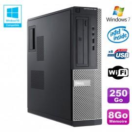 PC DELL Optiplex 390 DT G2020 DVD Ram 8Go DDR3 Disque 250Go Wifi HDMI Win 7
