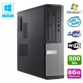 PC DELL Optiplex 390 DT G2020 DVD Ram 8Go DDR3 Disque 500Go Wifi HDMI Win 7