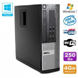 PC DELL Optiplex 790 SFF Intel G2020 Ram 4Go DDR3 Disque 250Go WIFI Win 7