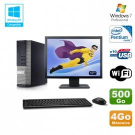 """Lot PC DELL Optiplex 7010 SFF G870 DVD 4Go Disque 500Go Wifi Win 7 + Ecran 17"""""""