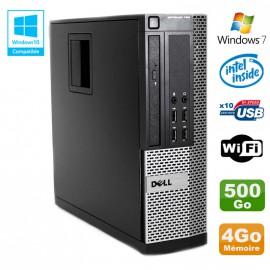 PC DELL Optiplex 790 SFF Intel G2020 Ram 4Go DDR3 Disque 500Go WIFI Win 7