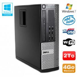 PC DELL Optiplex 790 SFF Intel G2020 Ram 4Go DDR3 Disque 2To WIFI Win 7