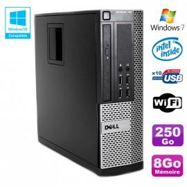 PC DELL Optiplex 790 SFF Intel G2020 Ram 8Go DDR3 Disque 250Go WIFI Win 7