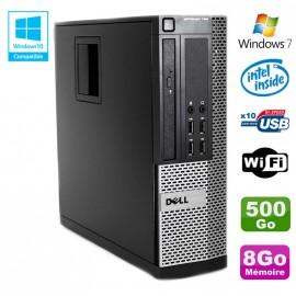 PC DELL Optiplex 790 SFF Intel G2020 Ram 8Go DDR3 Disque 500Go WIFI Win 7