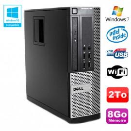 PC DELL Optiplex 790 SFF Intel G2020 Ram 8Go DDR3 Disque 2To WIFI Win 7