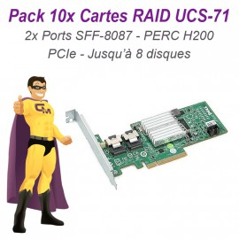 Lot 10 Cartes Raid Controller PCIe UCS-71 B Sata SAS DELL PERC H200 H216J 047MCV