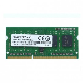 4Go RAM PC Portable SODIMM Sharetronic SM31NQ08IAF PC3-12800 1600MHz DDR3