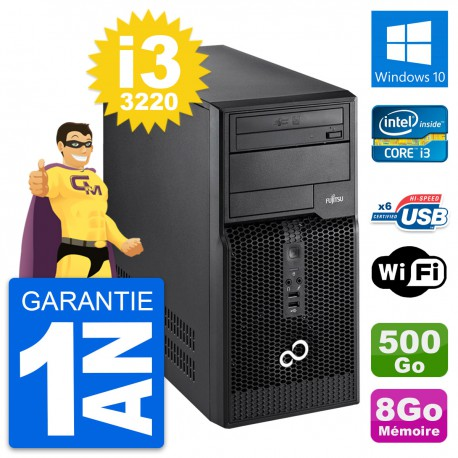 PC Tour Fujitsu Esprimo P400 Intel i3-3220 RAM 8Go Disque 500Go Windows 10 Wifi